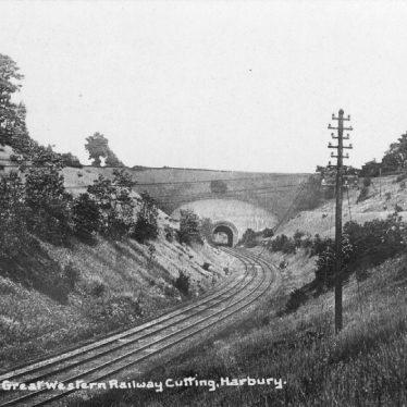 Harbury.  G.W.R. railway cutting