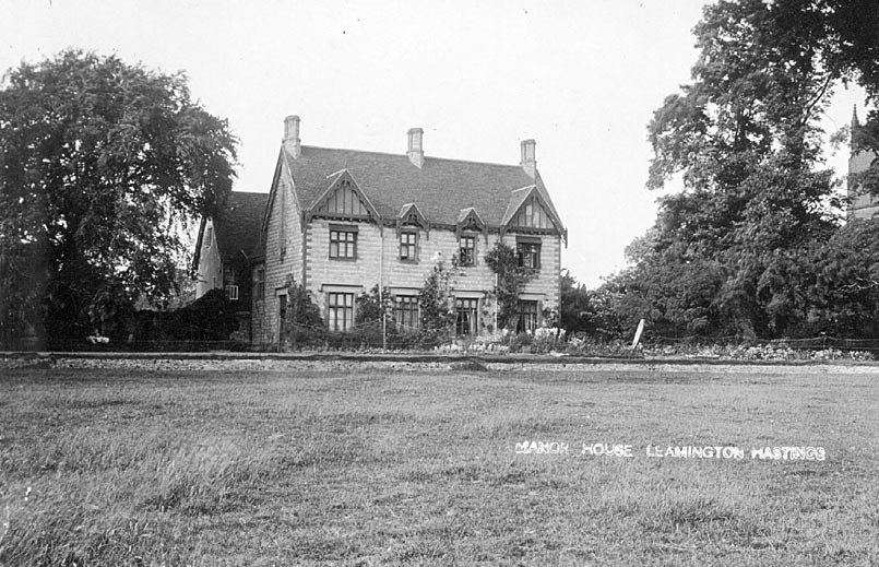 View of The Manor House, Leamington Hastings, showing the southern elevation which was completed in 1827.   1920s |  IMAGE LOCATION: (Warwickshire County Record Office)