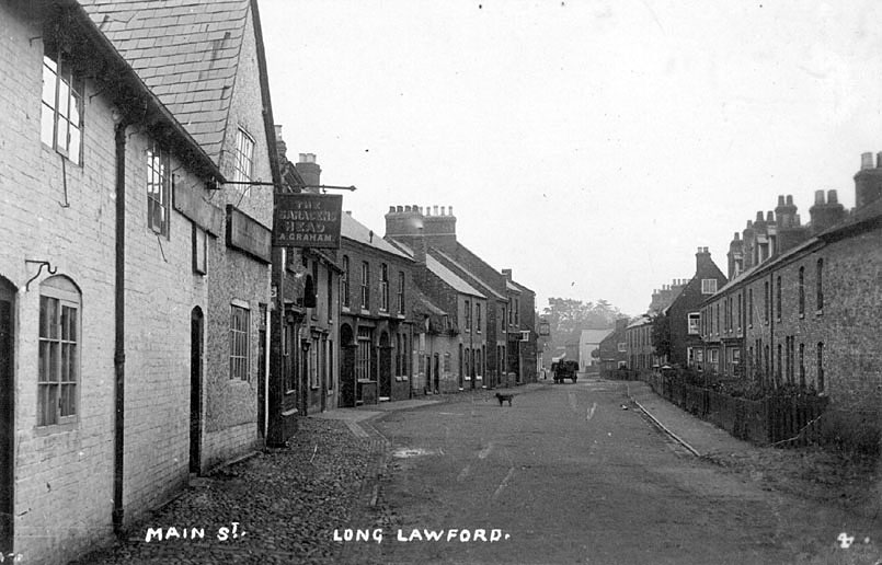 Main Street, Long Lawford.  1910s |  IMAGE LOCATION: (Warwickshire County Record Office)