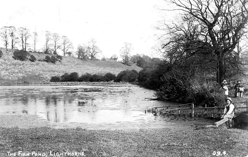 The Fishpond, Lighthorne.  1910 |  IMAGE LOCATION: (Warwickshire County Record Office)