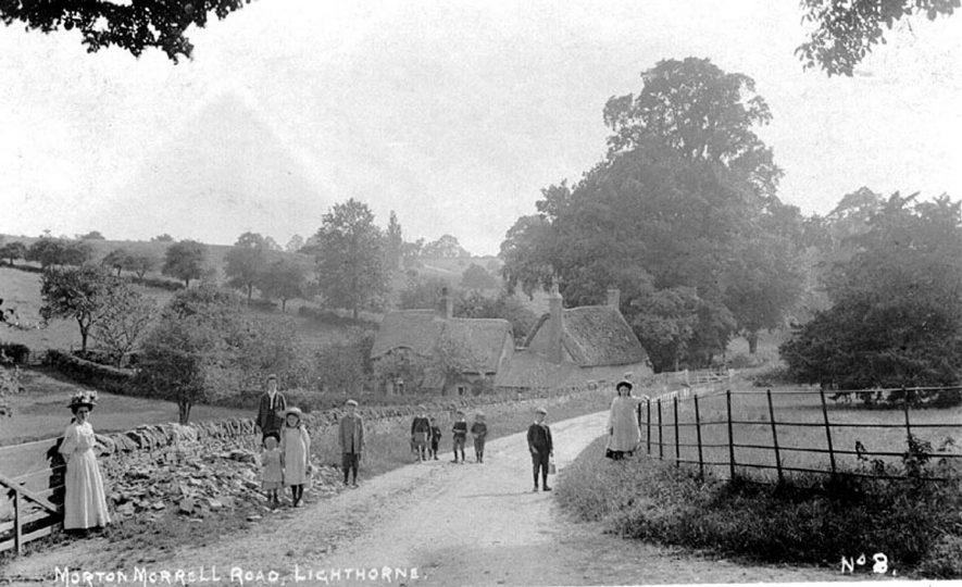 Dark Lane, Moreton Morrell Road, showing Whitegates Cottage, Lighthorne.  1900s |  IMAGE LOCATION: (Warwickshire County Record Office)