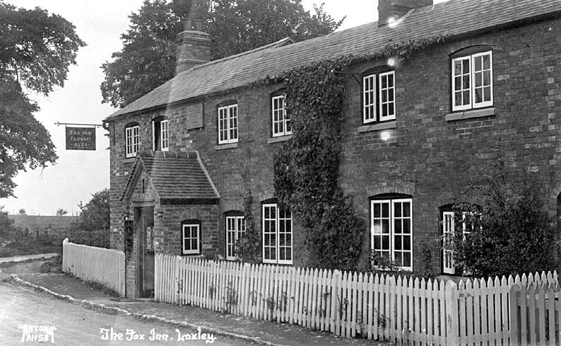 Exterior of The Fox Inn, Loxley.  1920s |  IMAGE LOCATION: (Warwickshire County Record Office)