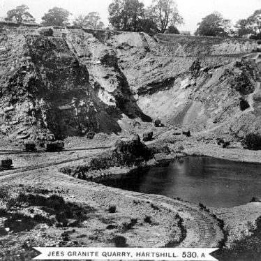 Hartshill.  Jees Granite Quarry