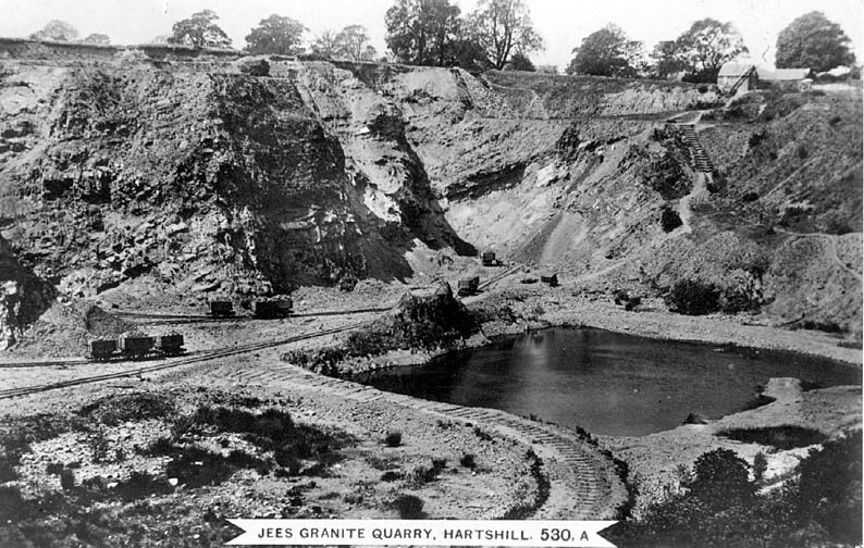 Jees granite quarry workings and railway, Hartshill.  1920s |  IMAGE LOCATION: (Warwickshire County Record Office)