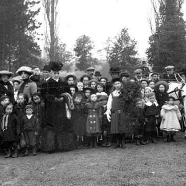 Lea Marston.  Hams Hall, group of people in grounds
