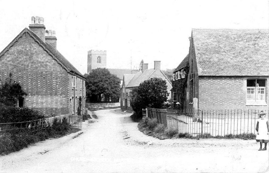 Marton church and the school.  1904 |  IMAGE LOCATION: (Warwickshire County Record Office)