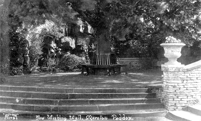 An old wishing well at Moreton Paddox.  1900s |  IMAGE LOCATION: (Warwickshire County Record Office)