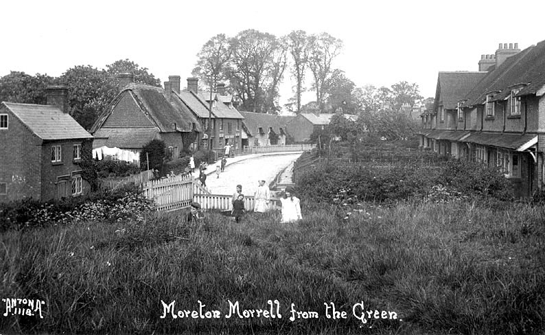 View of the village taken from The Green, Moreton Morrell.  1920s |  IMAGE LOCATION: (Warwickshire County Record Office)