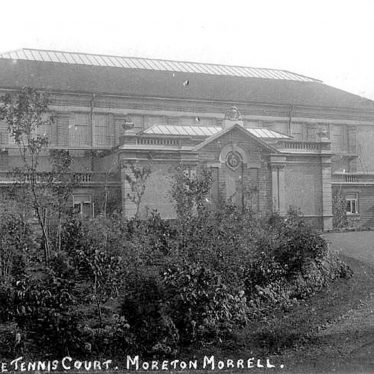 Moreton Morrell.  Real tennis court