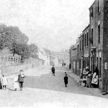 Newbold on Avon.  Children playing in the street