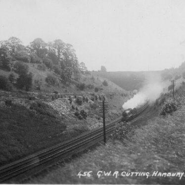 Harbury.  G.W.R  railway cutting