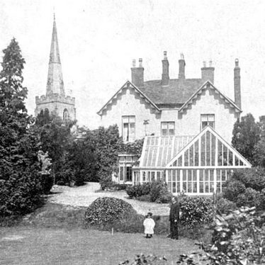 Newton Regis.  Church and vicarage