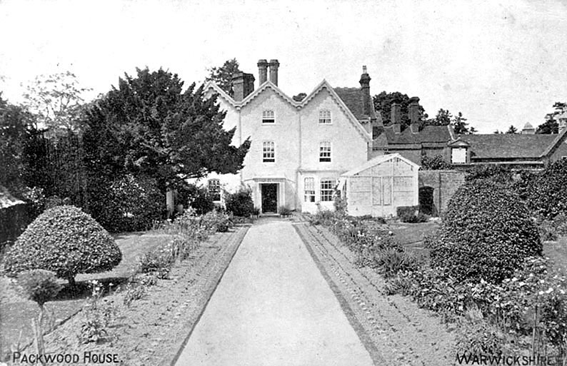 Packwood House and garden.  1904 |  IMAGE LOCATION: (Warwickshire County Record Office)