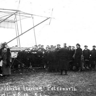 Polesworth.  Mr G. White and aeroplane