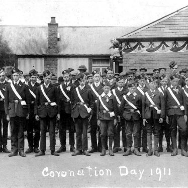 Polesworth.  Church Lads' Brigade parade on Coronation Day