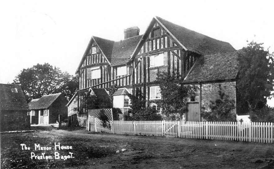 The Manor House, timber framed, Preston Bagot.  1900s |  IMAGE LOCATION: (Warwickshire County Record Office)