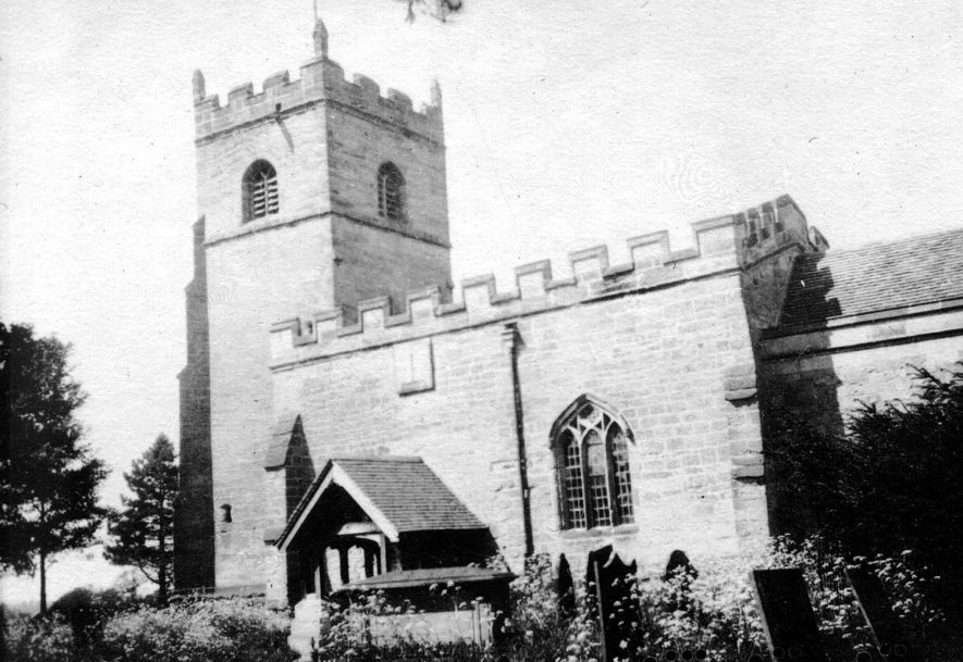 Burton Hastings Church.  1920s |  IMAGE LOCATION: (Warwickshire County Record Office)