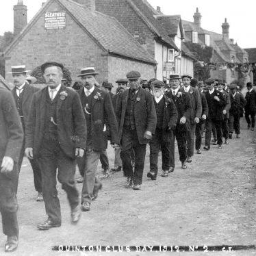 Quinton, Lower.  Club Day procession