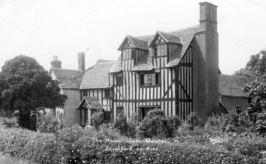 The Manor, Upper Quinton.  1930s |  IMAGE LOCATION: (Warwickshire County Record Office)