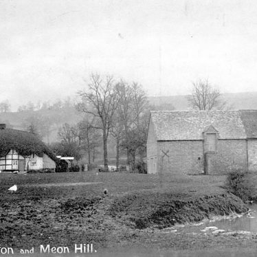 Quinton, Upper.  Village with Meon Hill in the distance