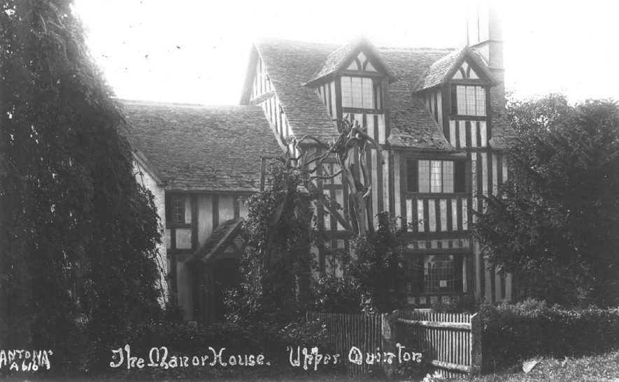 The Manor House.  Upper Quinton.  1920s |  IMAGE LOCATION: (Warwickshire County Record Office)