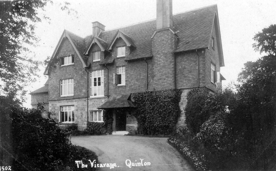 The Vicarage in Lower Quinton.  1910s |  IMAGE LOCATION: (Warwickshire County Record Office)
