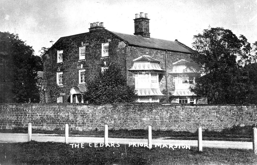 The Cedars, Priors Marston.  1900s    IMAGE LOCATION: (Warwickshire County Record Office)
