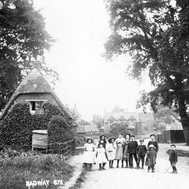 Radway.  Children standing in the road