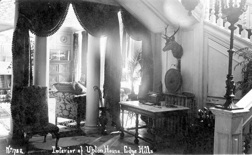 Interior view of Upton House, Edgehill.  1910s |  IMAGE LOCATION: (Warwickshire County Record Office)