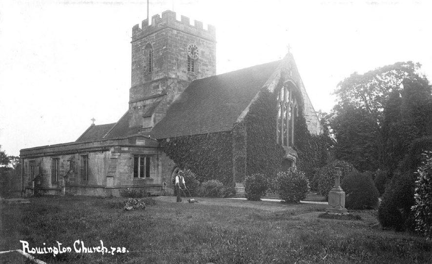 Rowington Church.  1910s |  IMAGE LOCATION: (Warwickshire County Record Office)