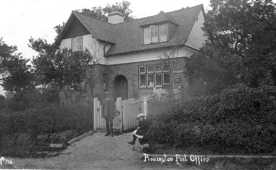 The post office and telegraph office at Rowington.  1910s