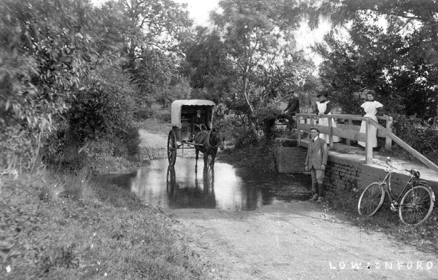 The ford at Lowsonford.  1900s |  IMAGE LOCATION: (Warwickshire County Record Office)