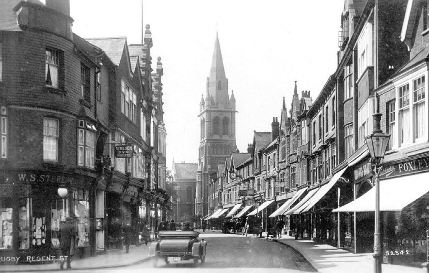 Street scene in Regent Street, Rugby.  1920s |  IMAGE LOCATION: (Warwickshire County Record Office)