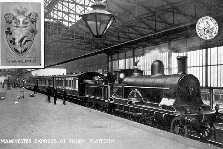 Manchester express at Rugby station. Locomotive number 1914 |  IMAGE LOCATION: (Warwickshire County Record Office)