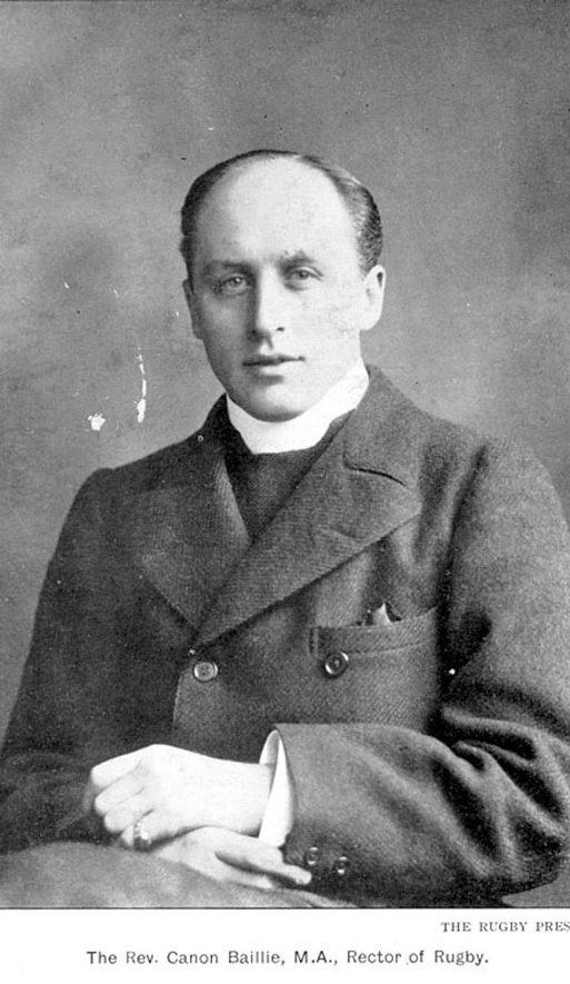 Reverend Canon Albert Victor Baillie, M.A.  Rector of Rugby 1898-1912.  1900s    IMAGE LOCATION: (Warwickshire County Record Office) PEOPLE IN PHOTO: Baillie, Revd Canon, Baillie as a surname