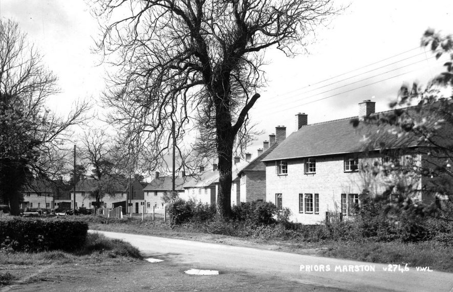 View of street showing houses.  1950s |  IMAGE LOCATION: (Warwickshire County Record Office)