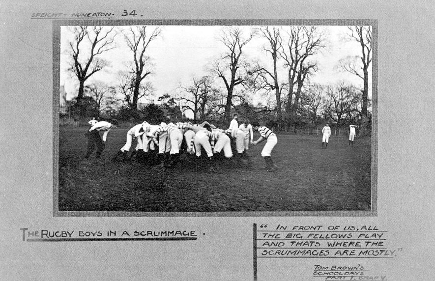 Rugby football at Rugby School in the 1900s. |  IMAGE LOCATION: (Warwickshire County Record Office)