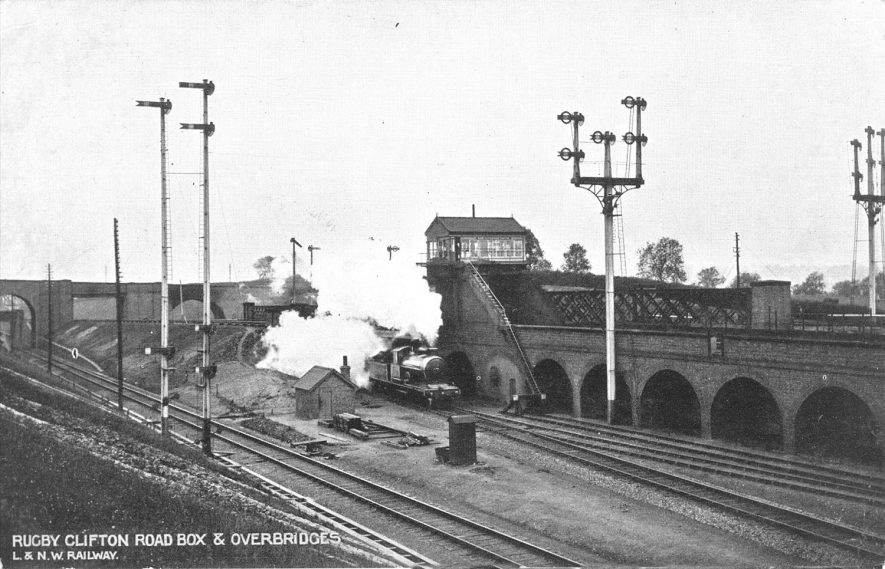 Clifton road box and overbridges, Rugby.  1900s |  IMAGE LOCATION: (Warwickshire County Record Office)