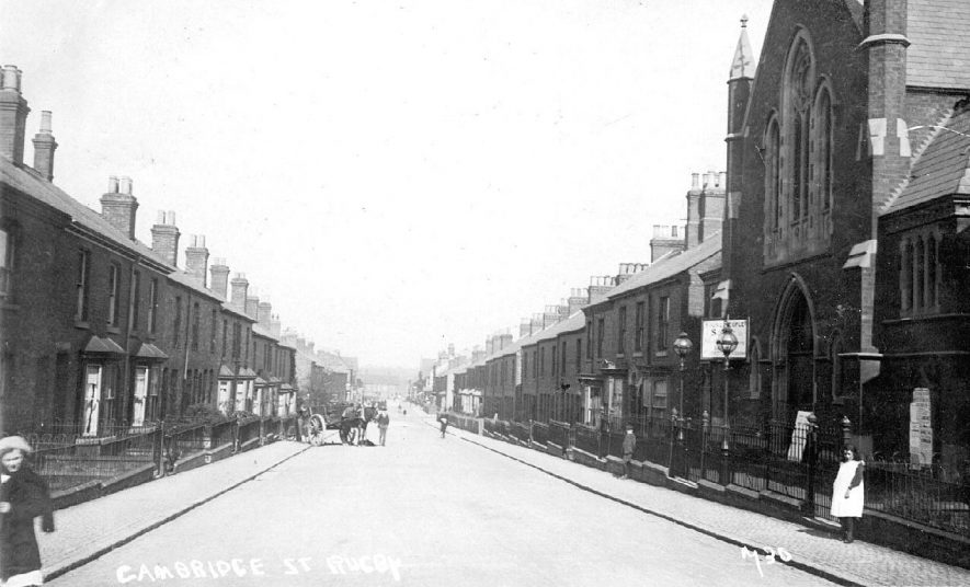 Scene from Cambridge Street, Rugby.  1900s |  IMAGE LOCATION: (Warwickshire County Record Office)