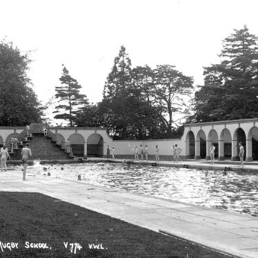 Rugby School.  Open air swimming pool