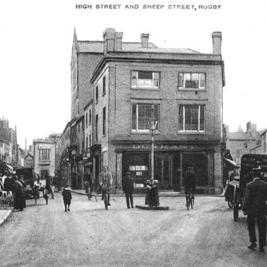 Rugby.  High Street and Sheep Street