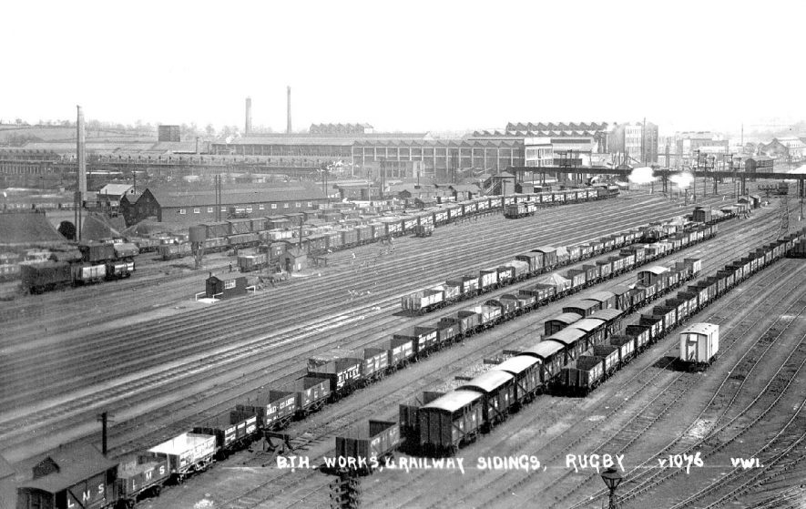 Rugby.  View of B.T.H. works and railway sidings.  1930s    IMAGE LOCATION: (Warwickshire County Record Office)