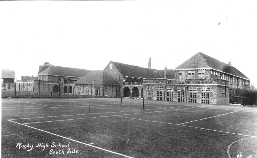 Rugby South side of  [ ?.Girls'] High School.  1930s |  IMAGE LOCATION: (Warwickshire County Record Office)