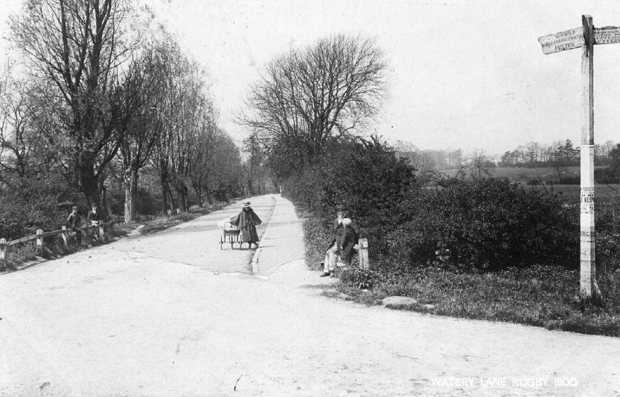 Newbold Road [Watery Lane], Rugby.  1900 |  IMAGE LOCATION: (Warwickshire County Record Office)