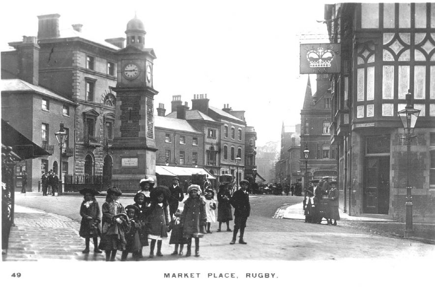 The Market Place, Rugby.  1900s |  IMAGE LOCATION: (Warwickshire County Record Office)