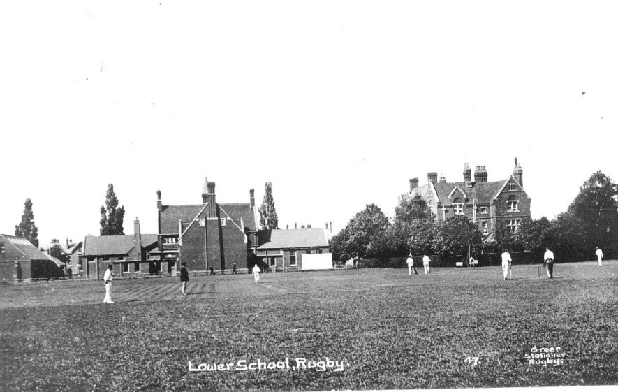 Lower School buildings, Rugby.  1910s |  IMAGE LOCATION: (Warwickshire County Record Office)