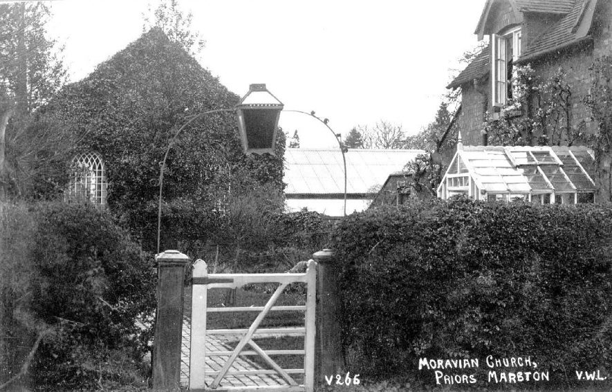 'Moravian Church' and House, [Keys Lane], Priors Marston.  1920s |  IMAGE LOCATION: (Warwickshire County Record Office)