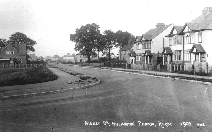 Sidney Road, Hillmorton Paddox, Rugby.  1920s |  IMAGE LOCATION: (Warwickshire County Record Office)