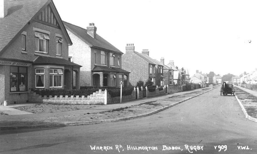 Warren Road, Hillmorton Paddox, Rugby.  1920s |  IMAGE LOCATION: (Warwickshire County Record Office)