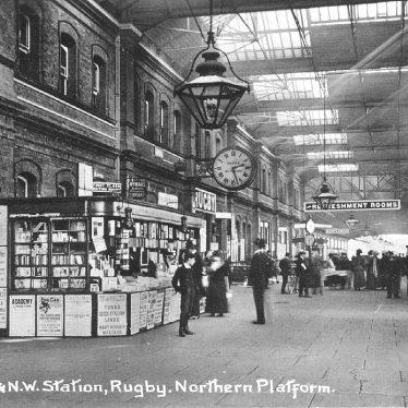 Rugby.  L.N.W.R. Railway Station, north platform